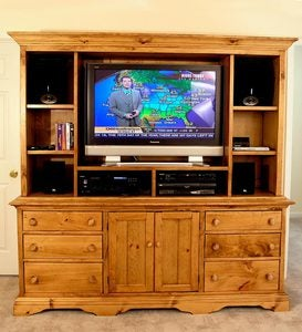 Flat Screen TV Cabinet - Avocado