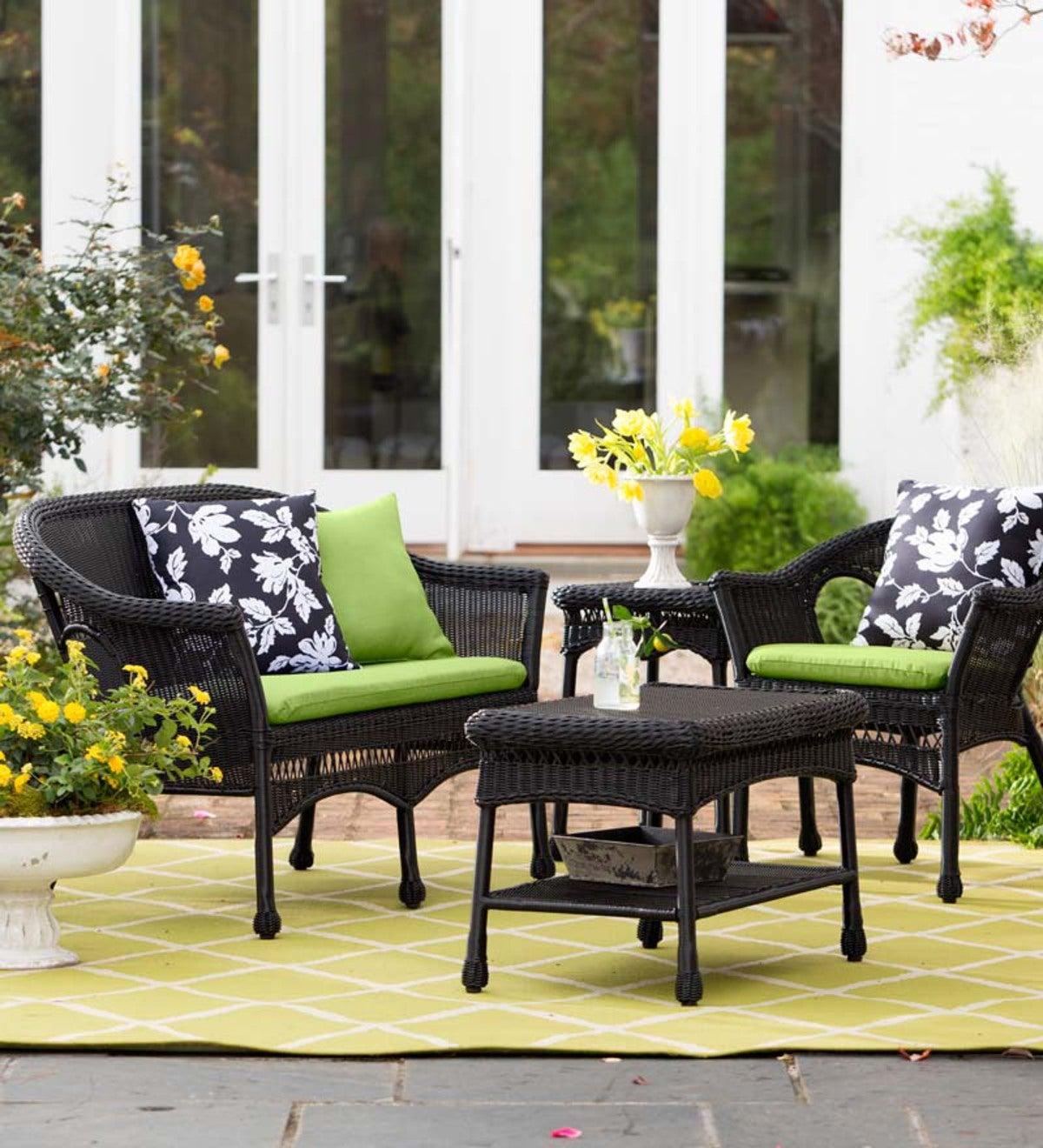 Black Easy Care Resin Wicker Furniture