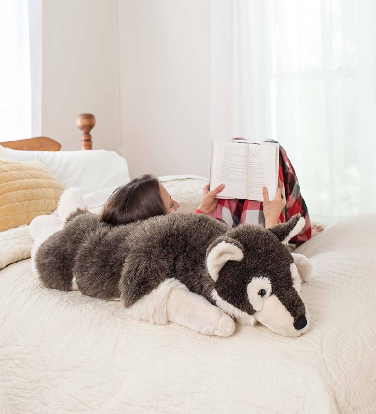 Husky Dog Plush Body Pillow Plowhearth
