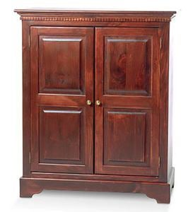 Pine Entertainment Center with Doors, Made in USA - Avocado