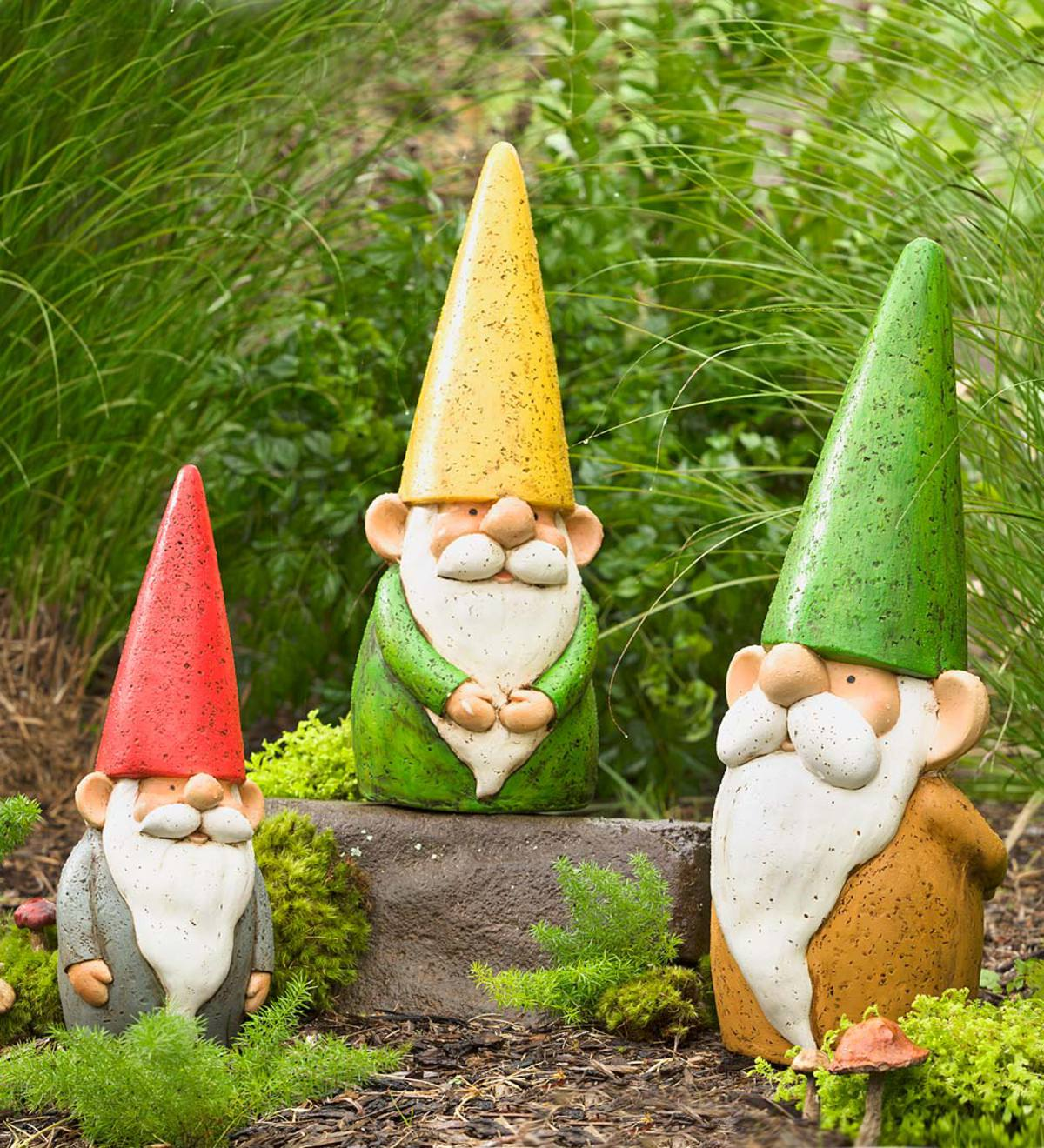 Large Resin Garden Gnome Plowhearth