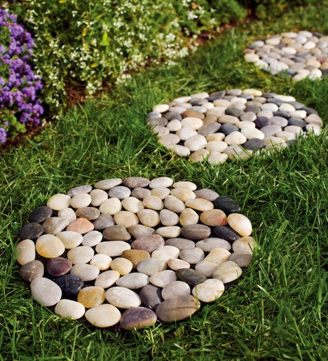 River Rock Stepping Stones Set Of 3 Plowhearth