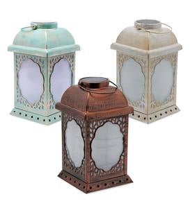 Solar Lighted Lanterns with Swirling Lights