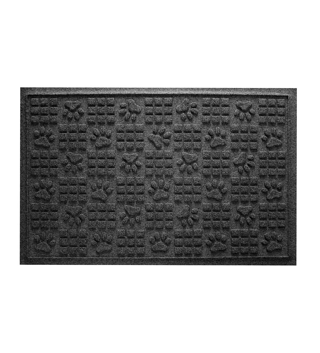 Waterhog Indoor/Outdoor Paws and Squares Doormat, 2' x 3' swatch image