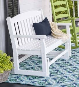 POLYWOOD Outdoor Glider Bench - Black