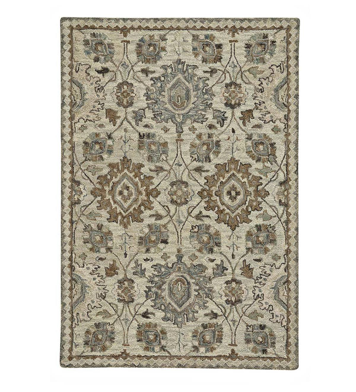 "Parkside Wool Medallion Rug, 3'6"" x 5'6"""