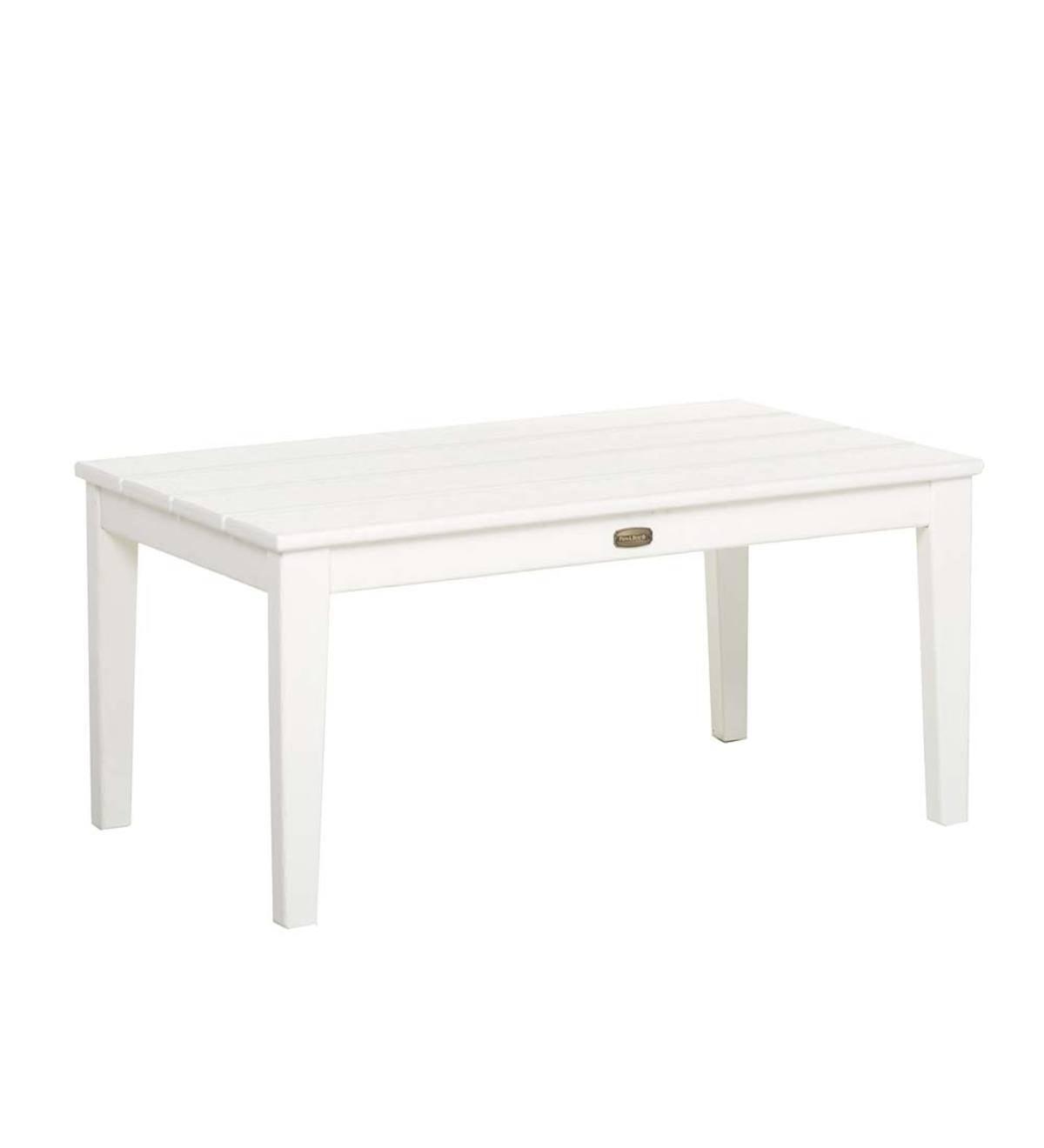 POLYWOOD Coffee Table White PlowHearth - Polywood coffee table