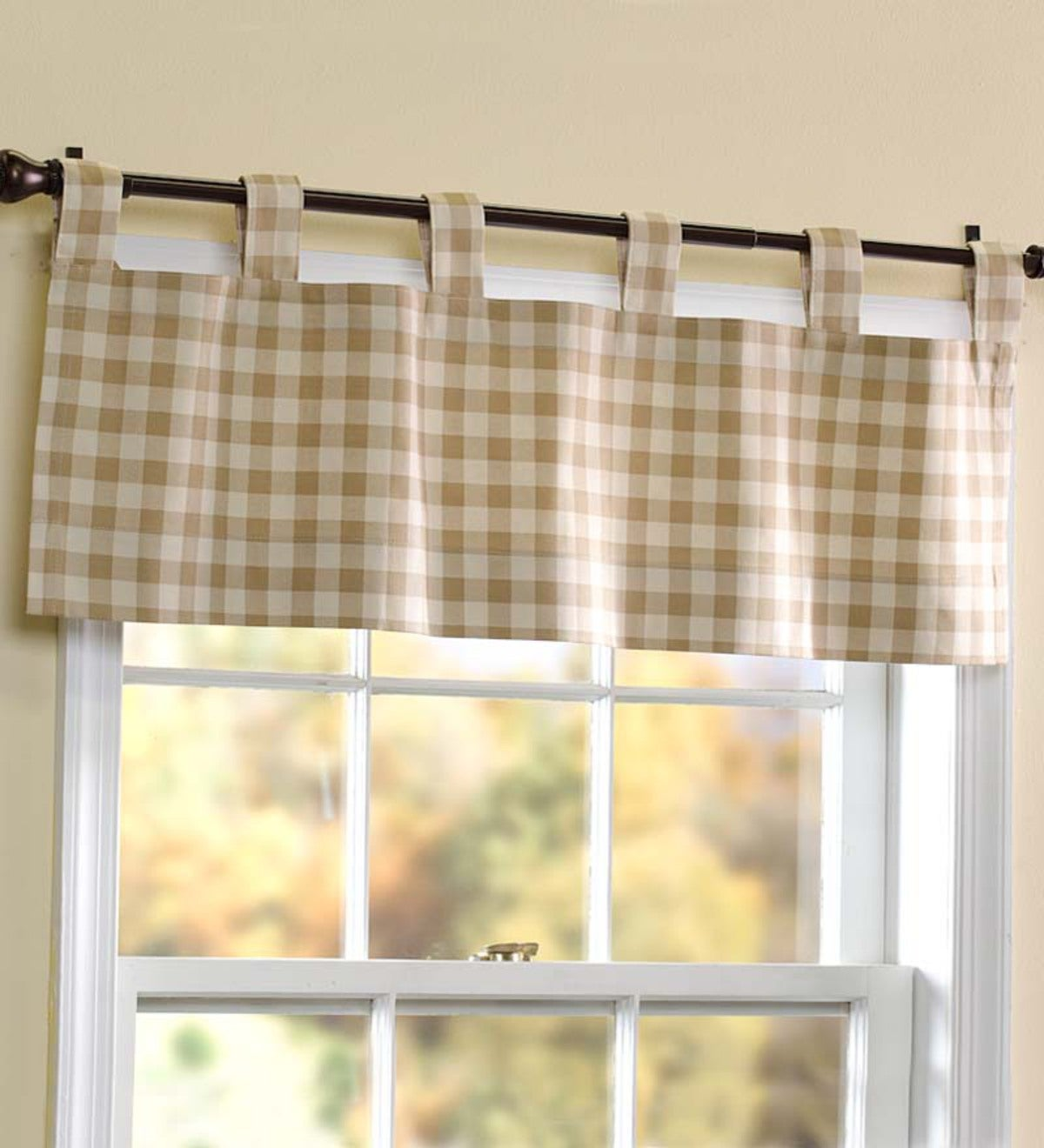 "15""L x 40""W Thermalogic™ Check Tab-Top Valance Curtain"