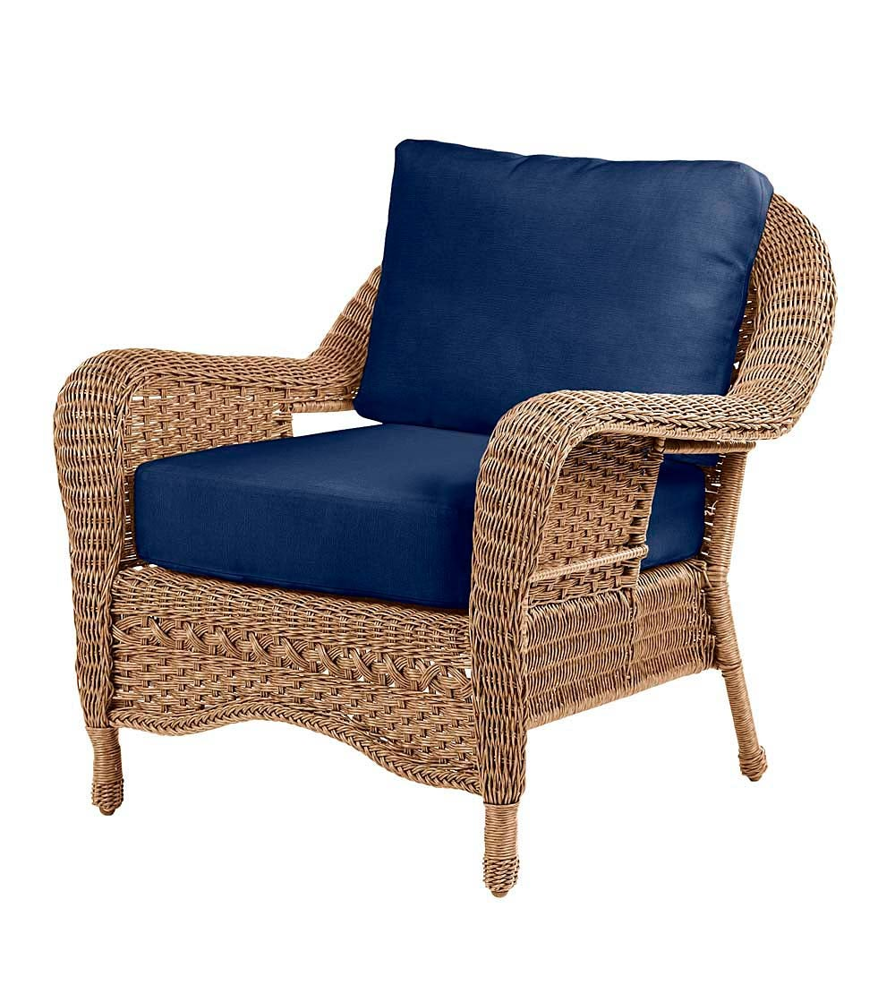 Prospect Hill Outdoor Wicker Deep Seating Chair with Cushions swatch image