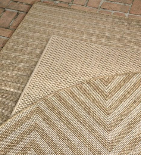 "7'10""x 10'10""Laurel Indoor and Outdoor Seagrass Look Rug In Neutral Patterns"