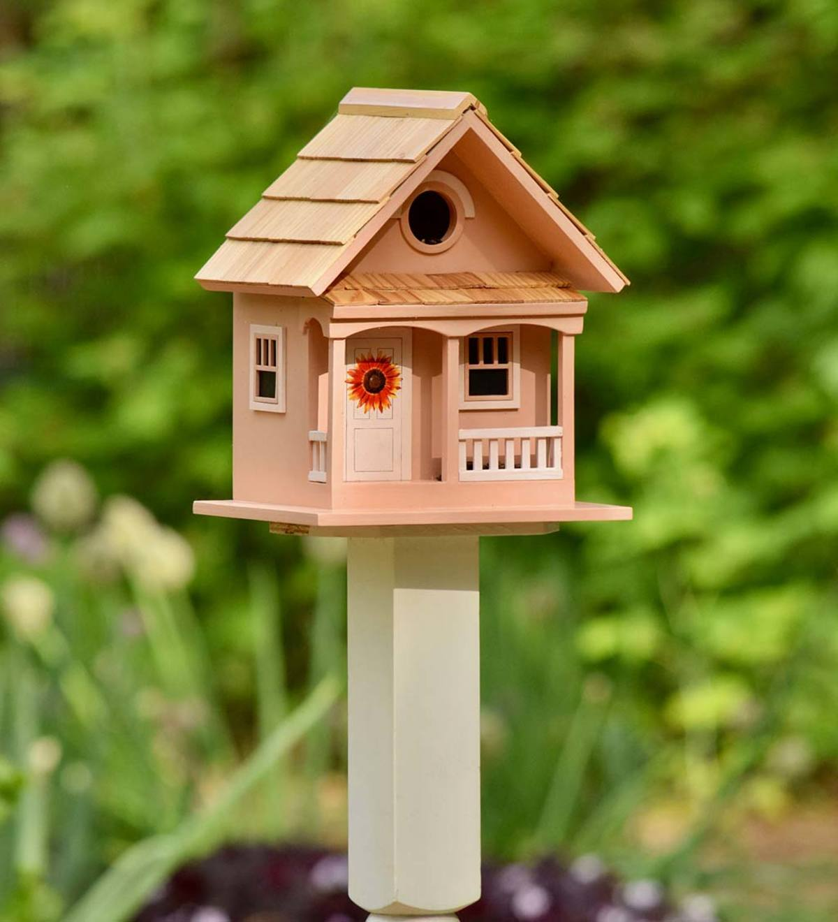 Sunflower Cottage Wooden Birdhouse
