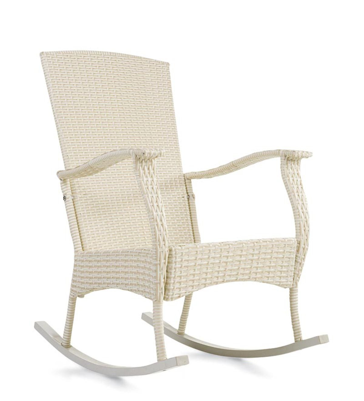 Marvelous Outdoor Or Indoor Wicker Rocking Chair With Steel Frame Machost Co Dining Chair Design Ideas Machostcouk