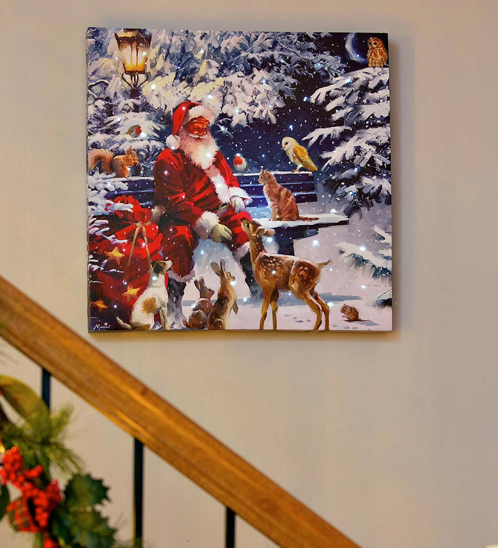 LED Santa and Friends Musical Canvas