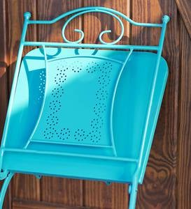 Teal Metal Bistro Set