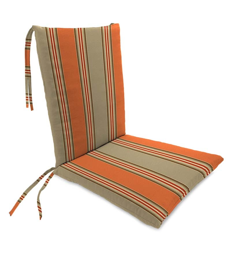 "Sunbrella Classic Rocking Chair Cushions With Ties, Seat 21"" front/17"" back x 19"" x 2½""; Back 16"" x 20"" x 2½"""