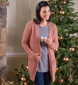 Women's Relaxed Fireside Open-Front Cardigan Sweater