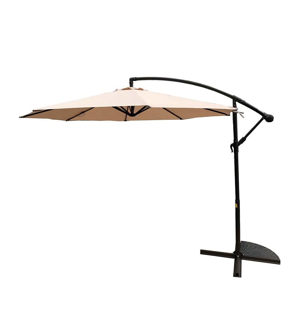 Classic Cantilever Patio Umbrella with Steel Pole, 10' dia. swatch image