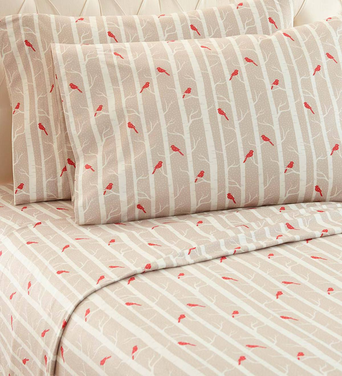 Cardinals Micro Flannel Sheet Sets