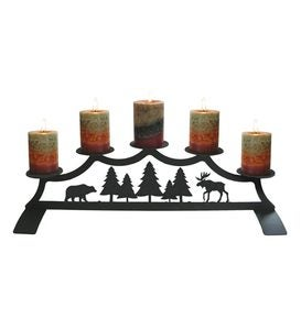 Bear & Moose Fireplace Candelabrum