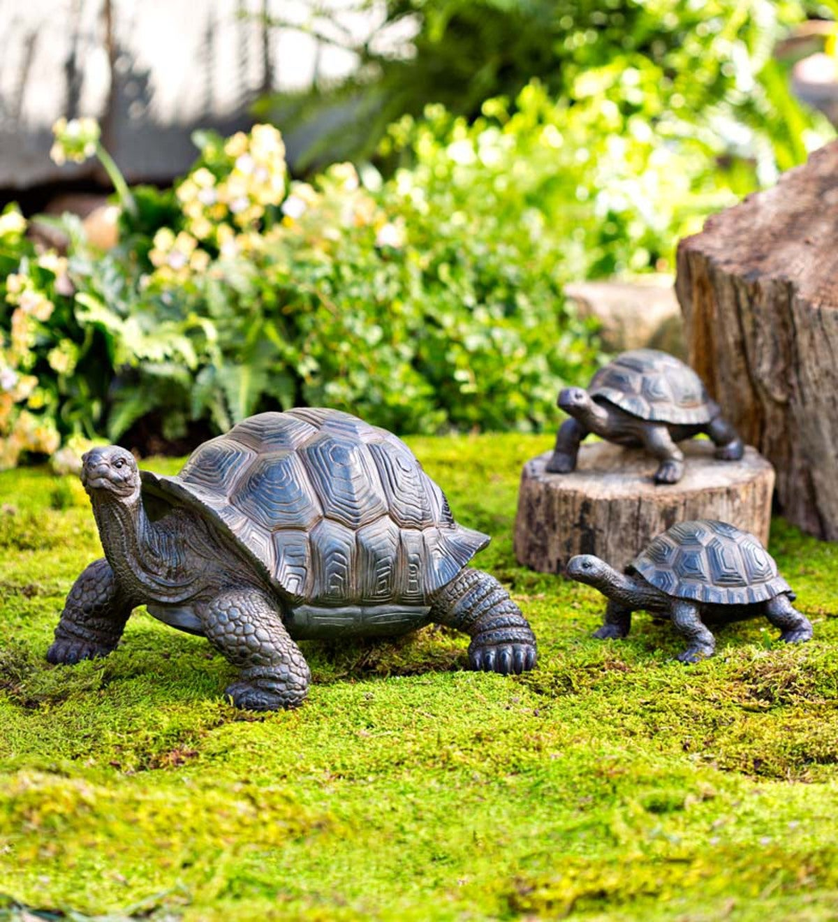 Tortoise Family Resin Garden Accents
