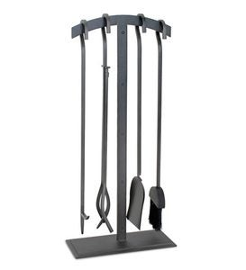Shadow Iron 5-Piece Fireplace Tool Set in Natural Iron Finish