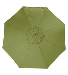 11' Deluxe Sunbrella™ Market Umbrella - Forest Green Stripe