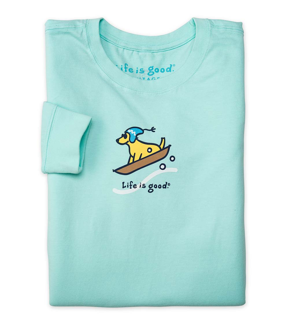 Life Is Good Women's Long Sleeve Crusher Tee Shirt