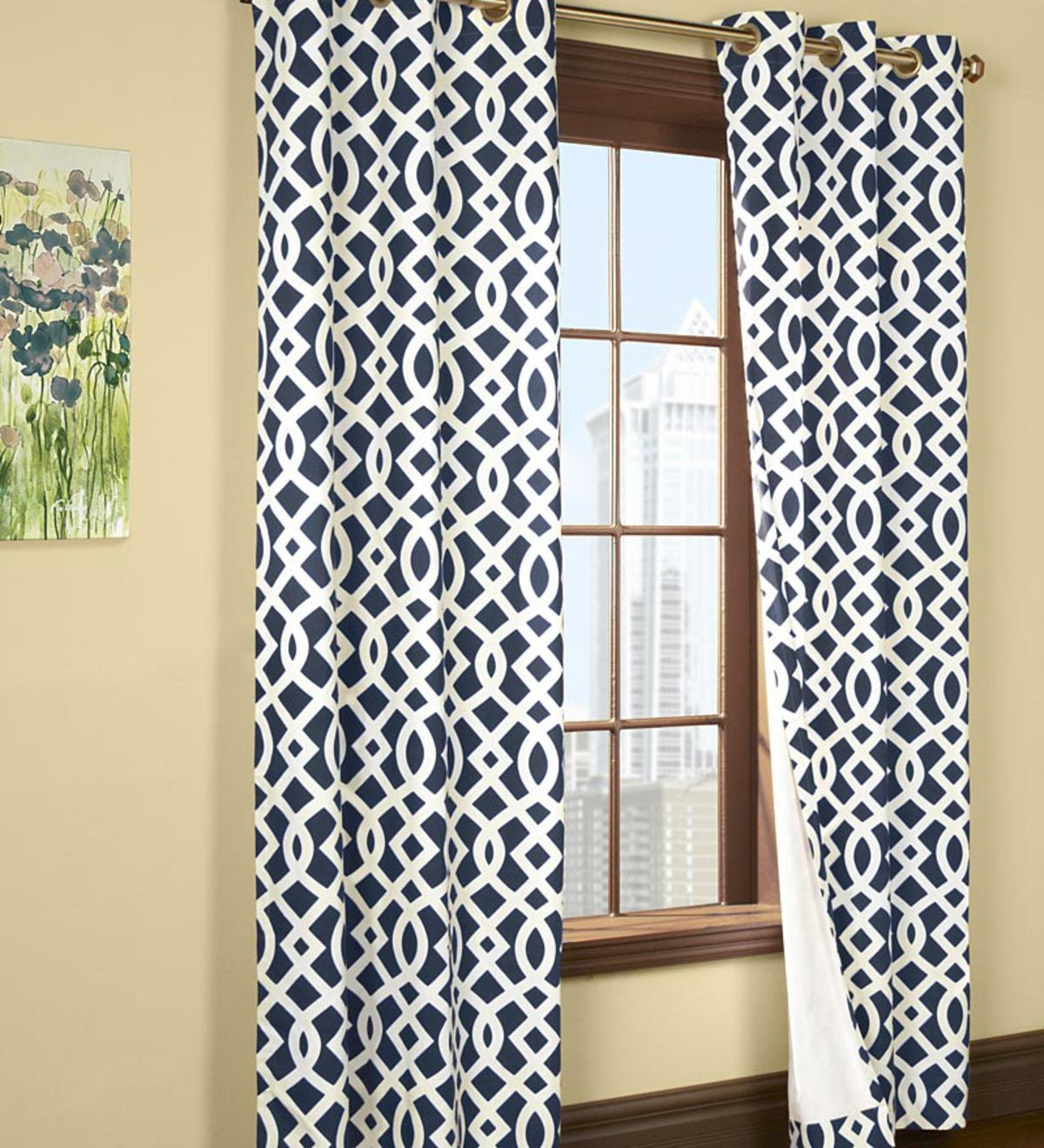 "84""L Thermalogic™ Trellis Grommet-Top Insulated Curtains"