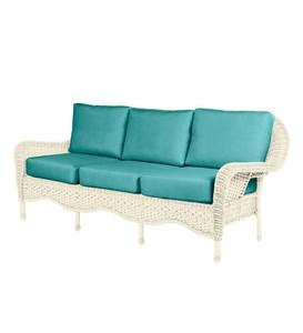 Prospect Hill Outdoor Wicker Deep Seating Sofa with Cushions