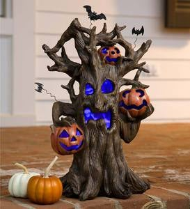 Lighted Spooky Tree Halloween Decoration