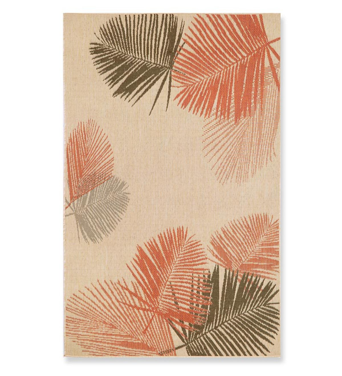 "7'10""square Terrace Palms Indoor/Outdoor Rug - Terracotta"