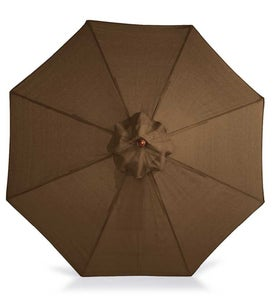 Sale! 9' Wooden Umbrella With Pulley - Chocolate