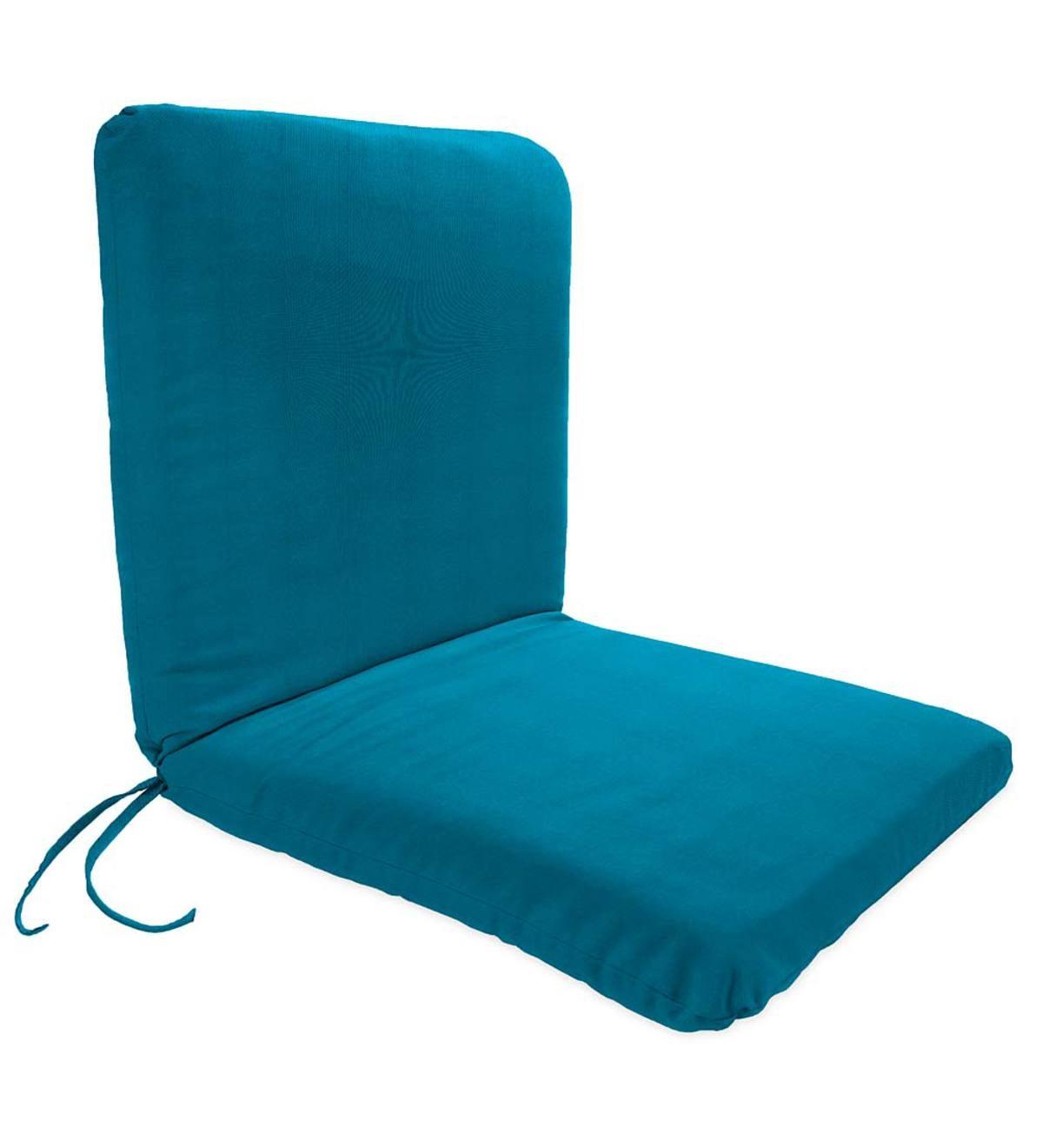 Sunbrella® Classic Chair Cushion With Ties, Seat 19u201dx 17u201dx 2½