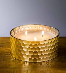 Honeycomb Glass Candle Holder