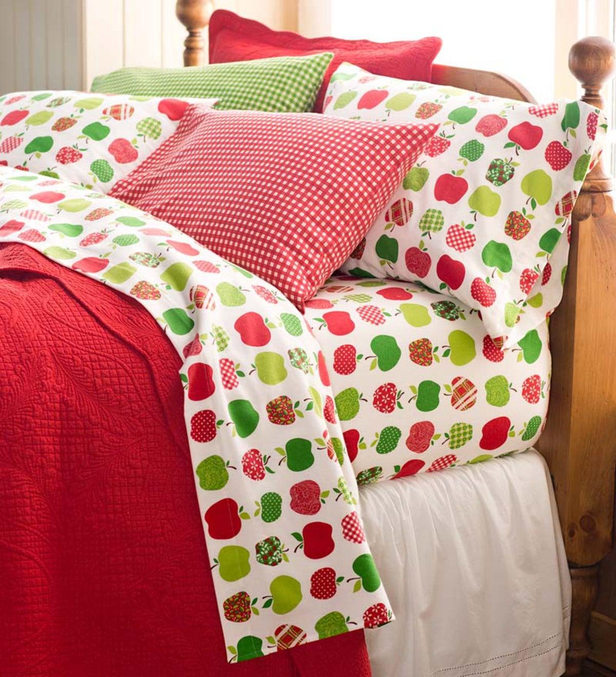 King Apple Harvest Flannel Sheet Set Plowhearth