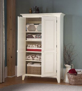 Handcrafted Linen Cupboard - Avocado Green