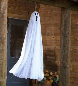 Lighted Color-Changing Halloween Ghost Stakes, Set of 2