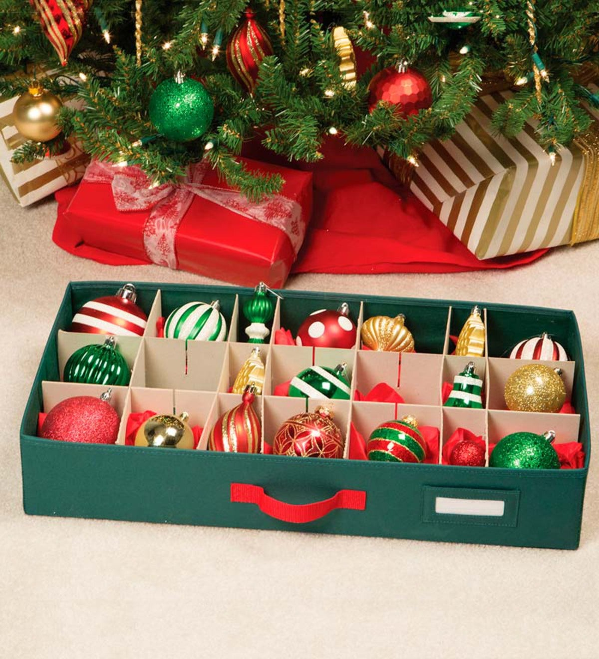 Christmas Ornament Storage.Christmas Ornament Storage Chest With Drawers Plowhearth