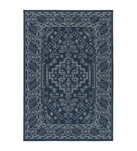 Indoor/Outdoor Brunswick Damask Polypropylene Rug