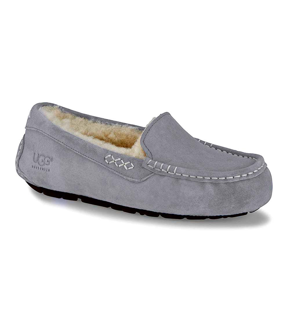 UGG Ansley Moccasin Slippers - Light Gray - Size 5