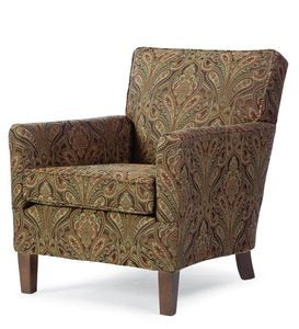 USA-Made Bedford Collection Upholstered Nigel Chair - Ivory Jacobean