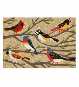 Songbirds on Branches Indoor/Outdoor Rug