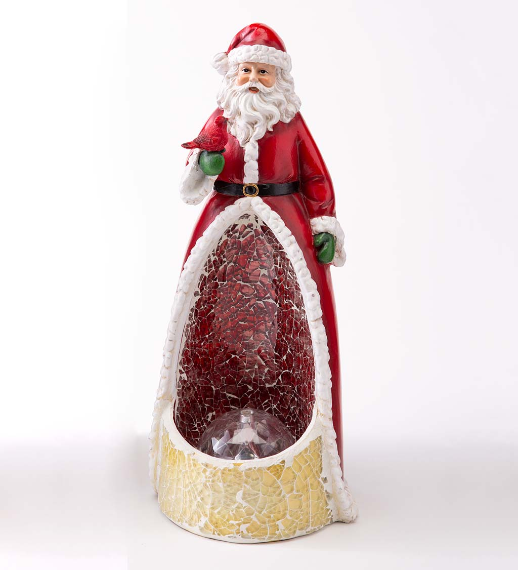 Lighted Color-Changing Glass Mosaic Holiday Statue