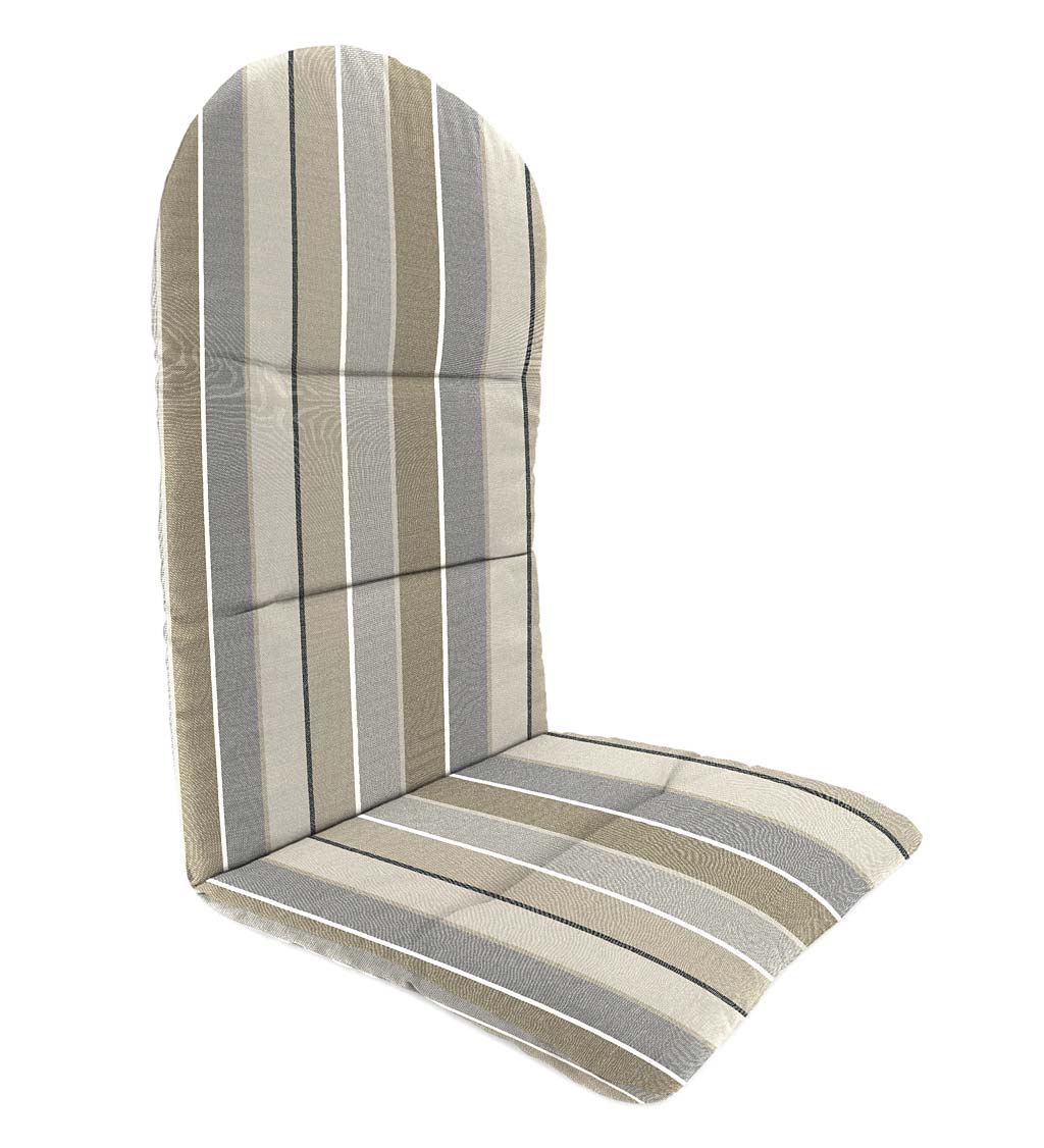 "Sunbrella Classic Adirondack Cushion, 52"" x 20½"" x 2½""; hinged at 18½"" from bottom swatch image"