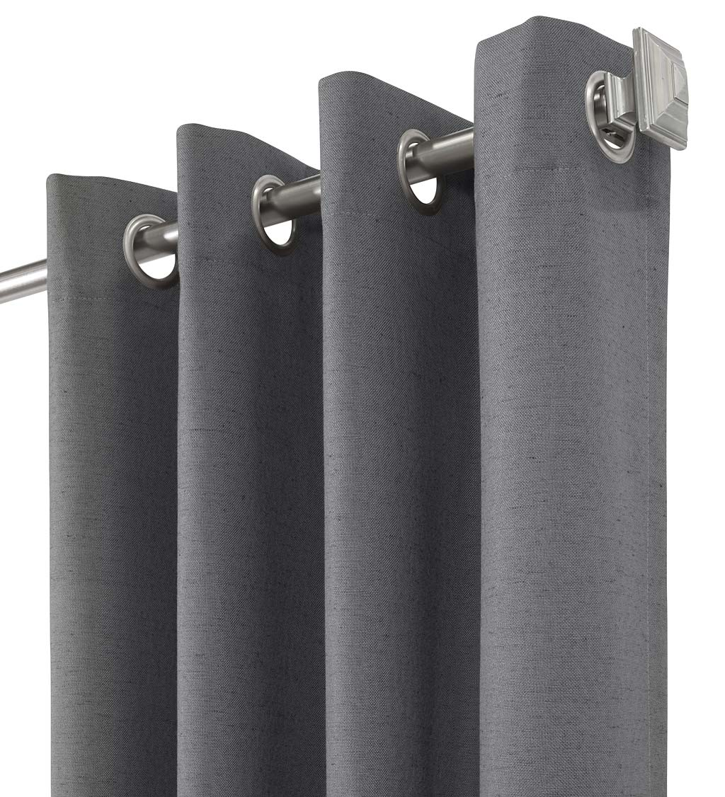 "ThermaPlus Slubbed Blackout Curtains with Grommets, 63""L Pair"