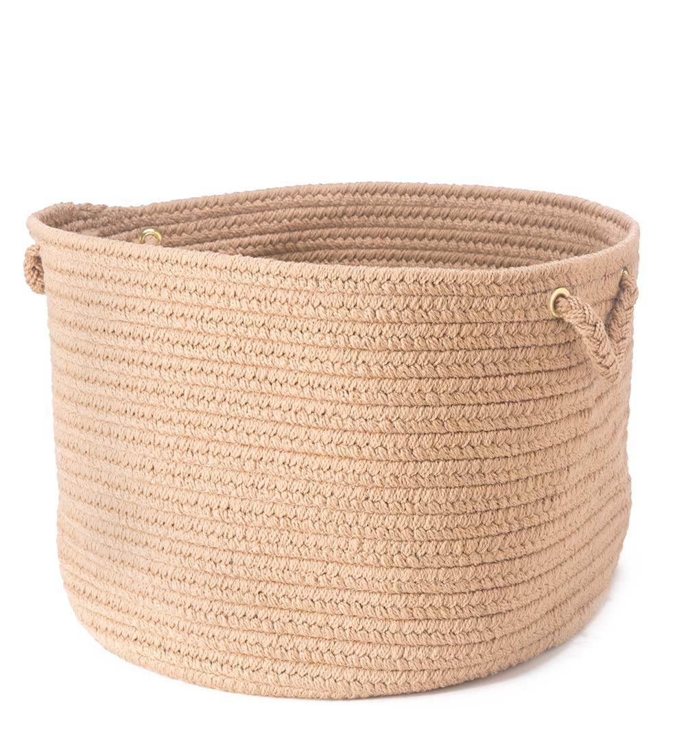 Braided Polypro Roanoke Basket with Handles swatch image