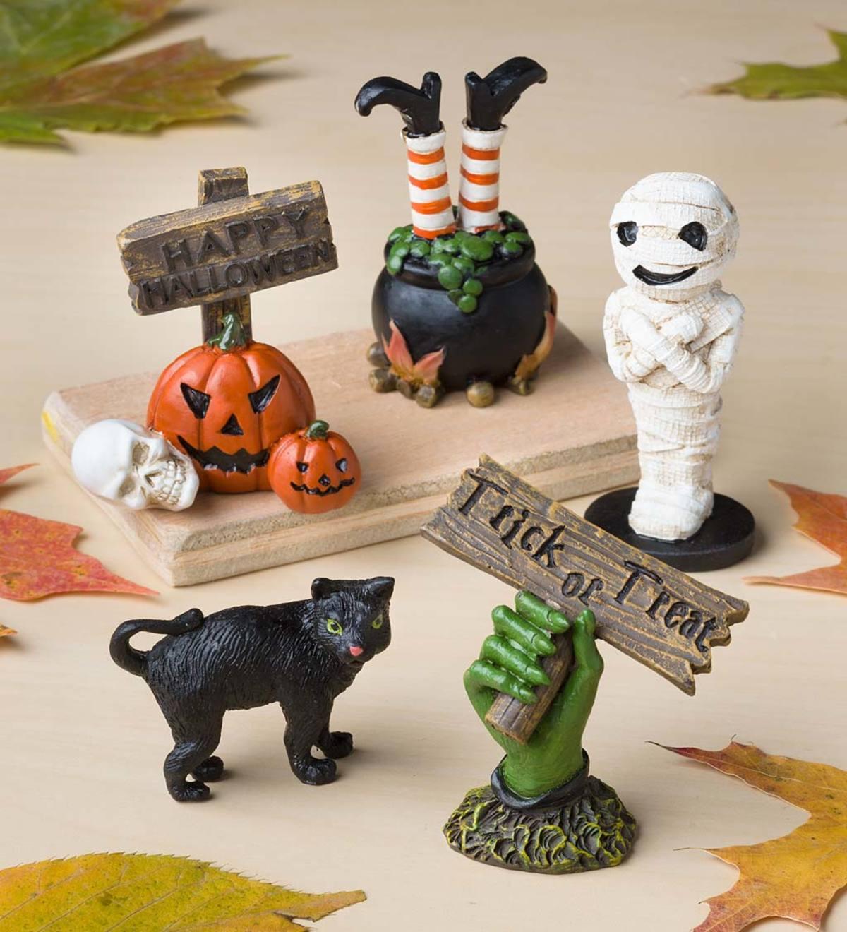 Miniature Fairy Garden Halloween Figurines Set of 5