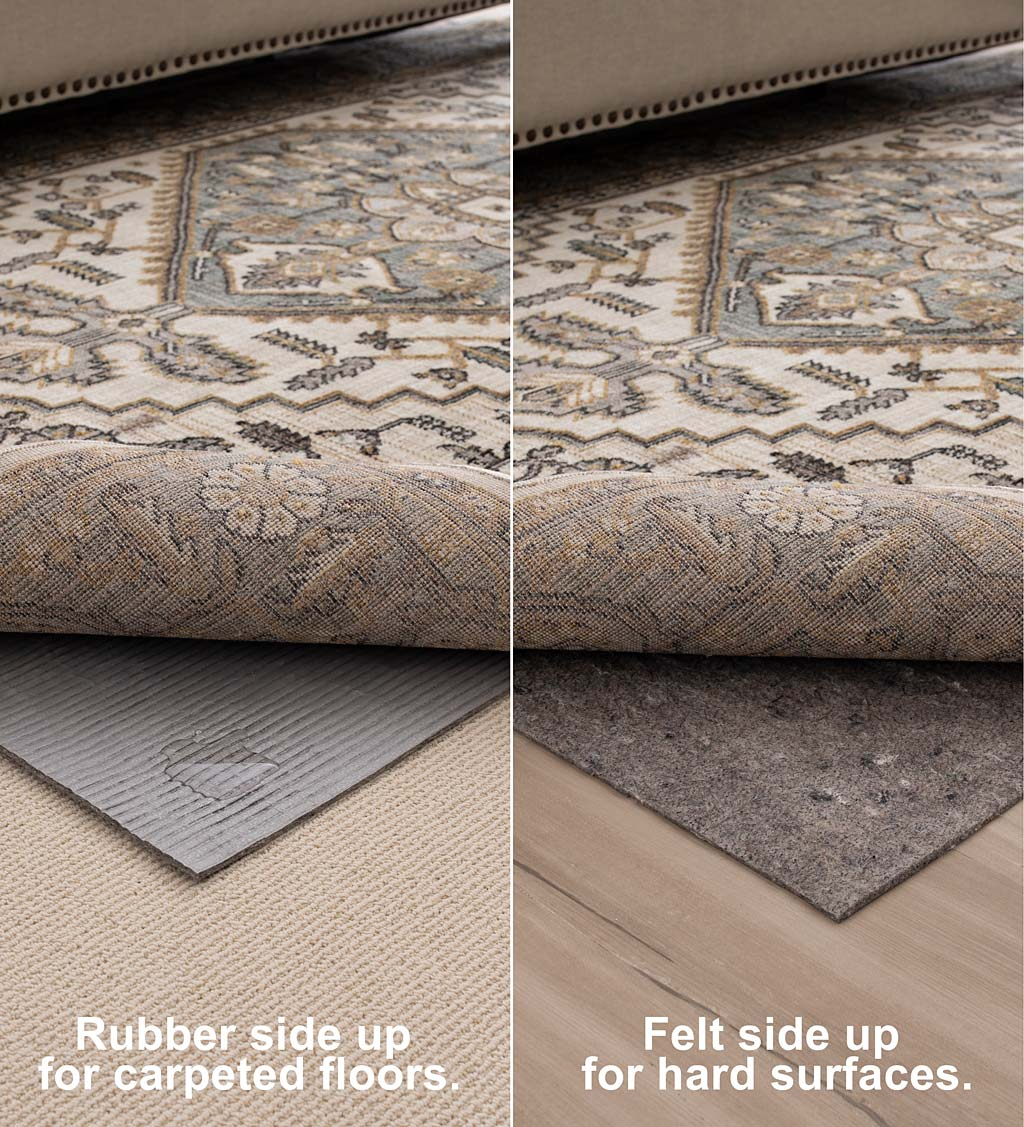 Recycled Synthetic Fiber All-Surface Pet-Proof Rug Pad
