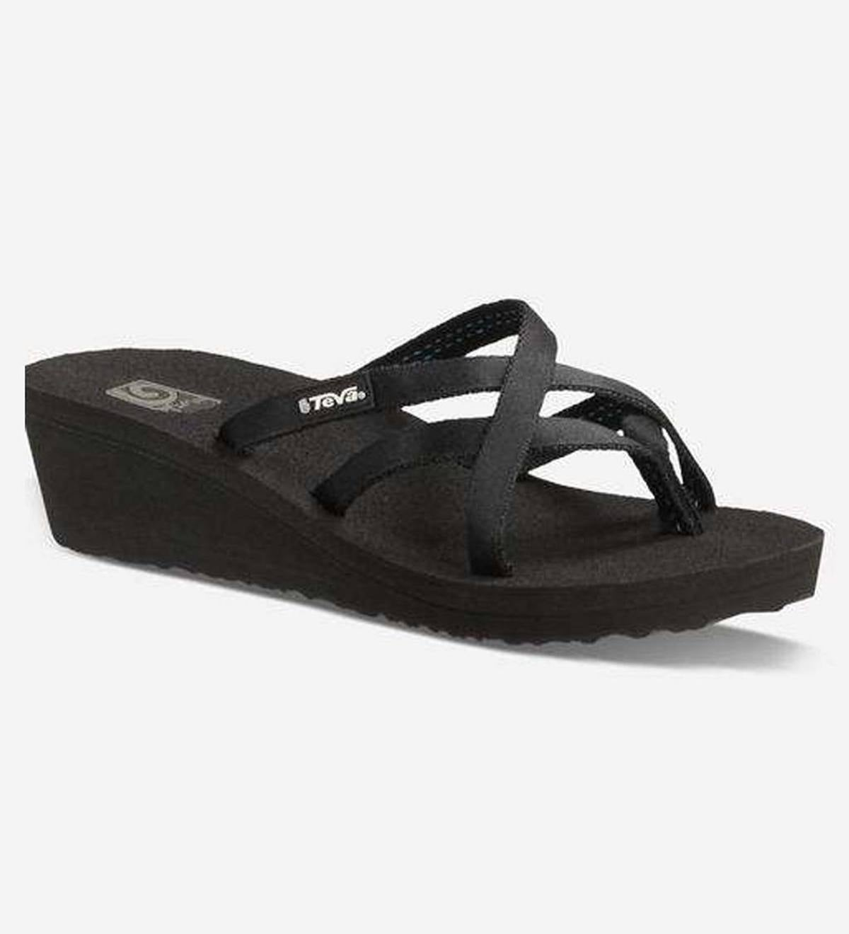 b4b97514a4470 Teva Womens Mush Mandalyn Wedge Ola 2 - Black - Size 11