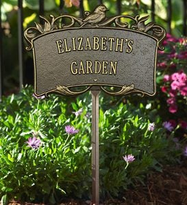USA-Made Handcrafted Cast Aluminum Personalized Lawn Plaque